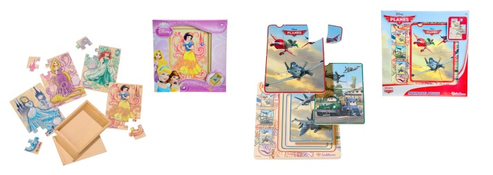 Disney's Princess Puzzle Box and Eichhorn's Planes Multilevel Puzzle is ideal for kids 2 years and older.